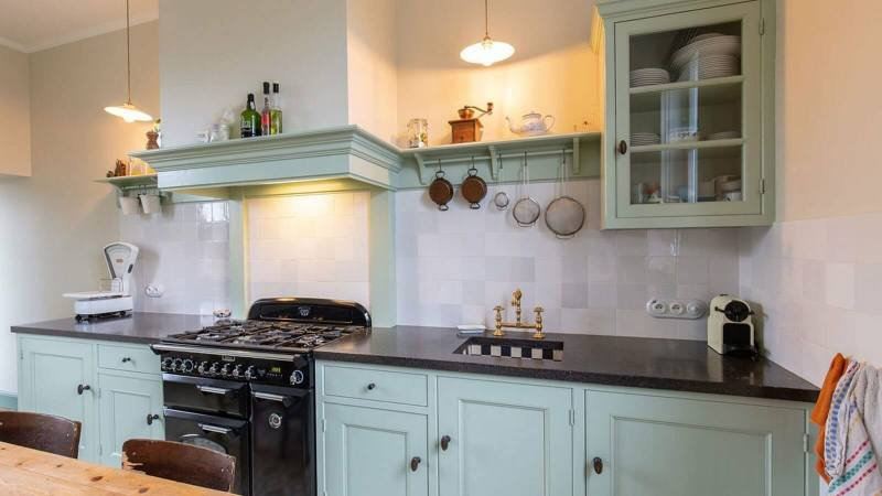 Houten keuken Hamme belgisch hardsteen