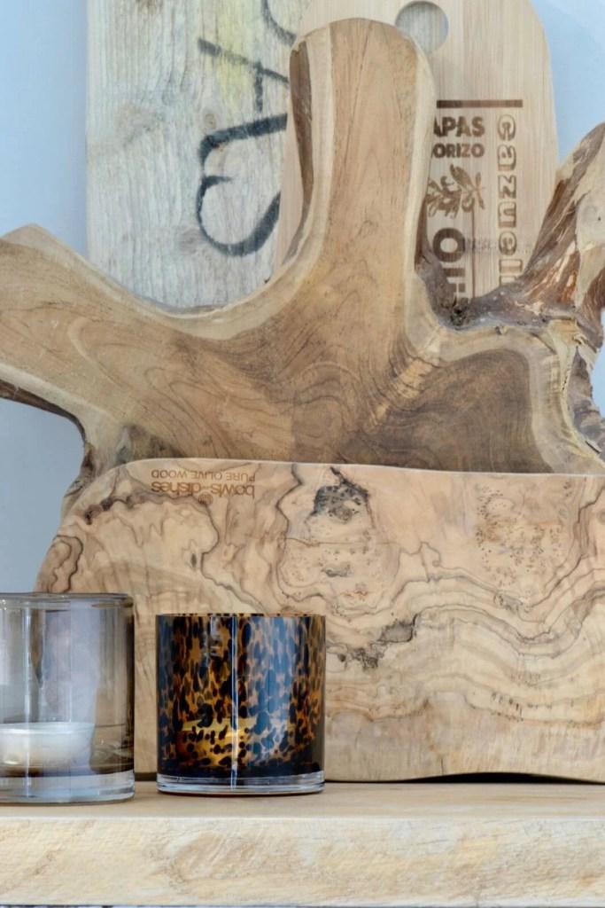 Landelijke keuken Oudenbosch houtplanken kaars