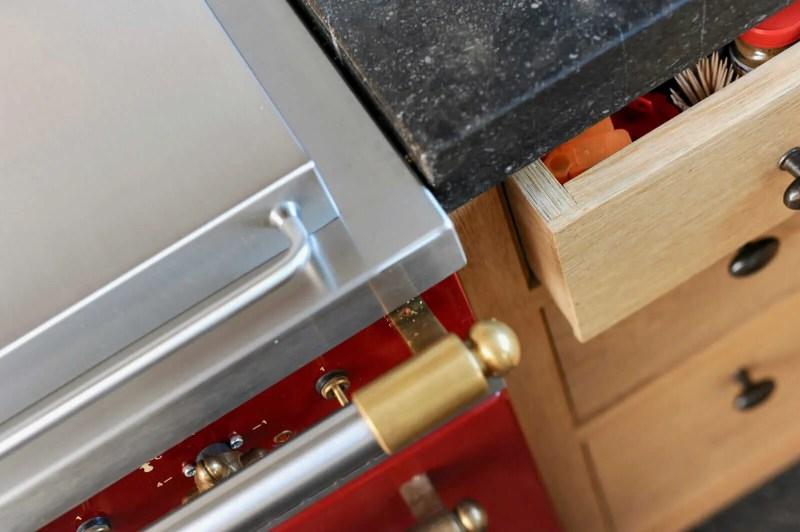 Eiken keuken Blitterswijck Lacanche detail