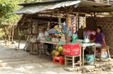 a shack, selling chilled drinks and snacks. the lady who owns this have been selling this since she was a kid when some of the areas in the temple complex are still being investigated by archaeologists..