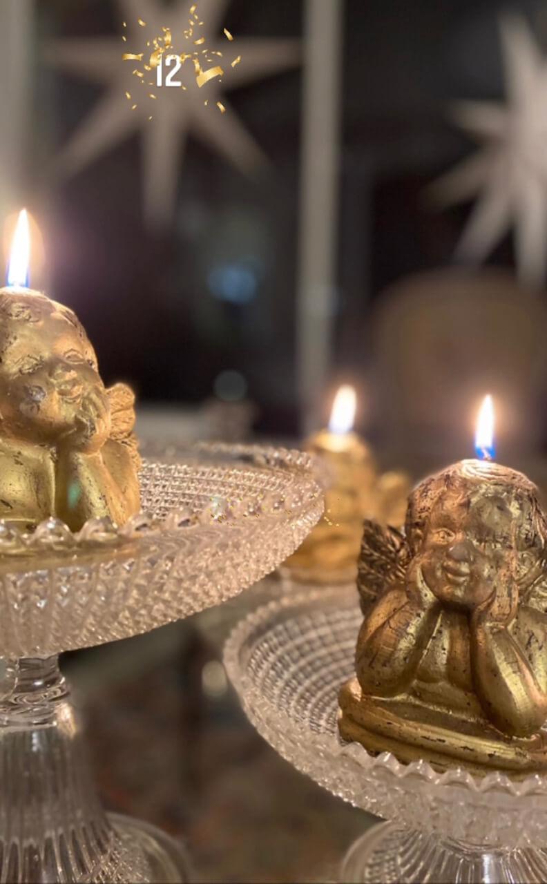 Merveilles de marie coupe verre ancien merveilles de marie calendrier de l'avent Cadeau noël