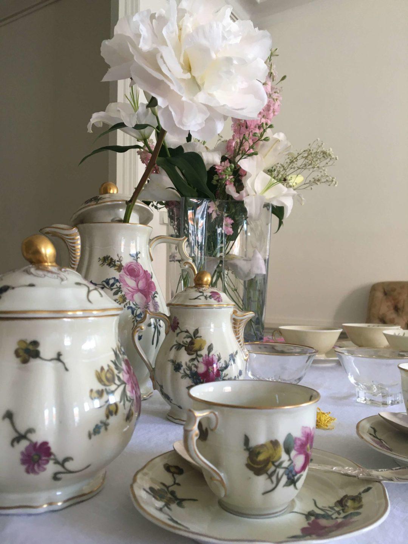 service-à-café-Haviland-fleuri-ancien-porcelaine-raffiné