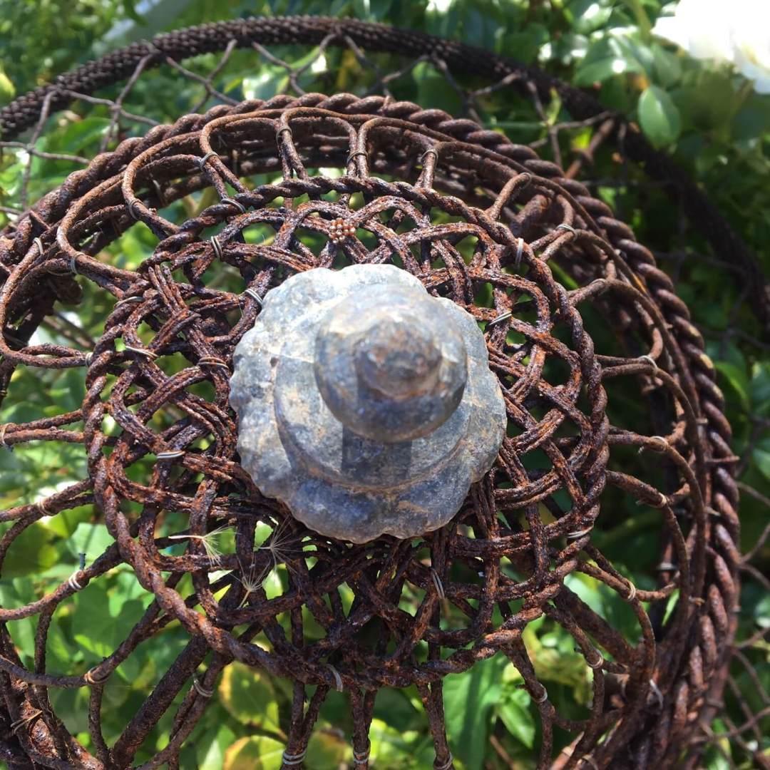 Incroyable-jardinière-suspendue-XIXème-fer-ancien