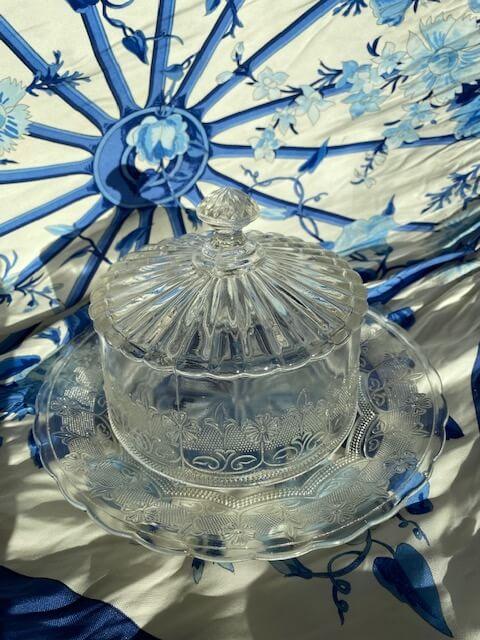 Cloche verre gravé décoration Lons le saunier