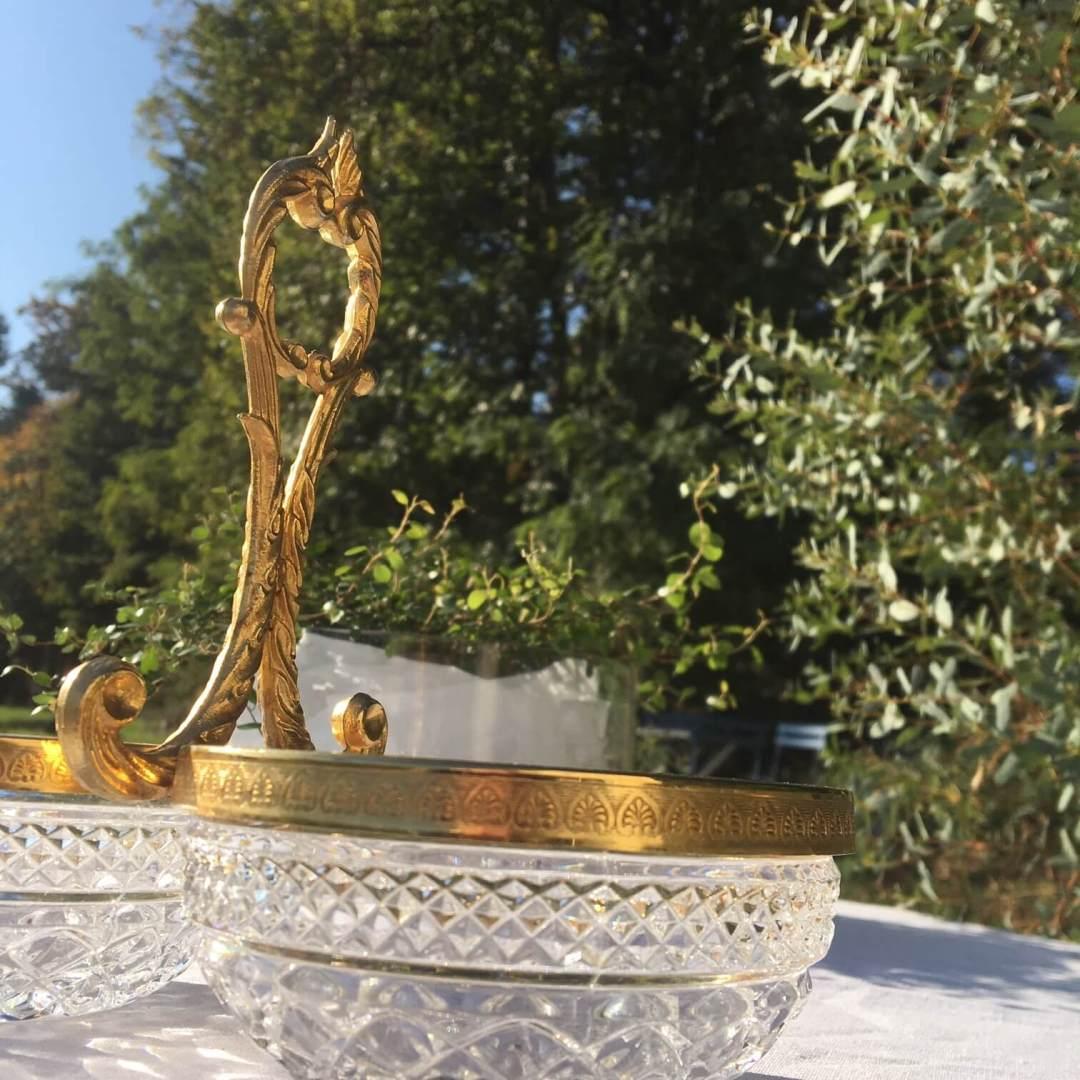 serviteur muet en métal doré et verre