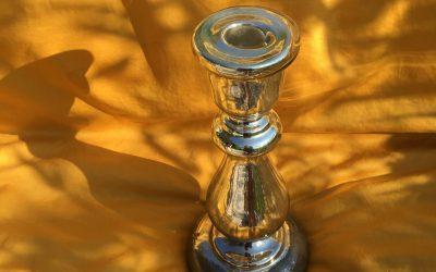 Bougeoir en verre soufflé