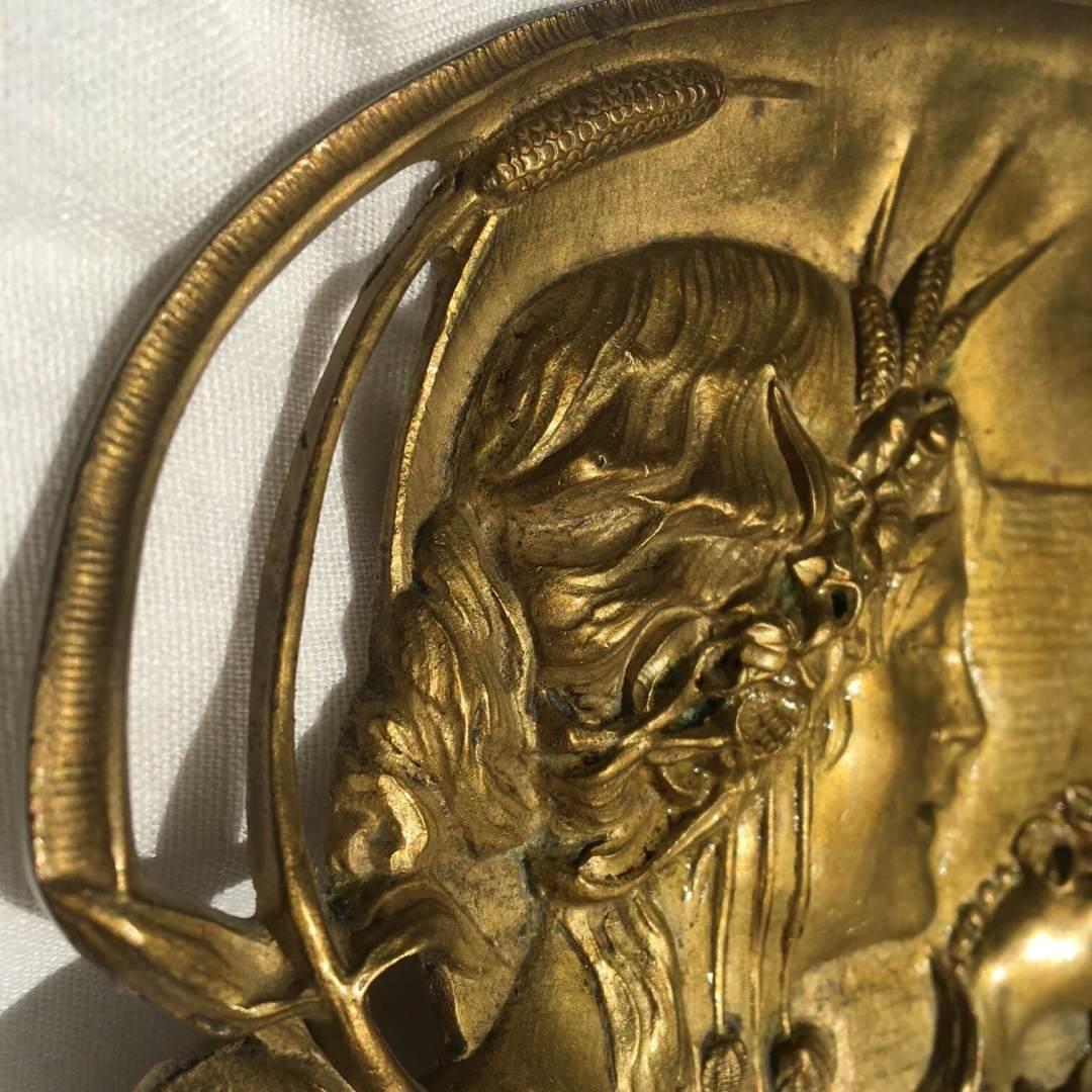 Vide-poche Art Nouveau bronze sirène aux bijoux