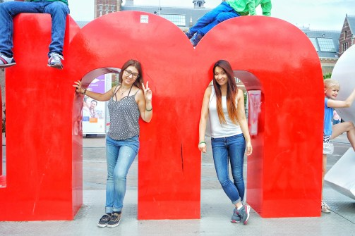 us posing
