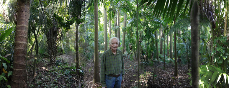 W.S. Merwin in his Palm Forest - Photo by Tom Sewell