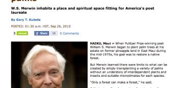 Article in Honolulu Star-Advertiser