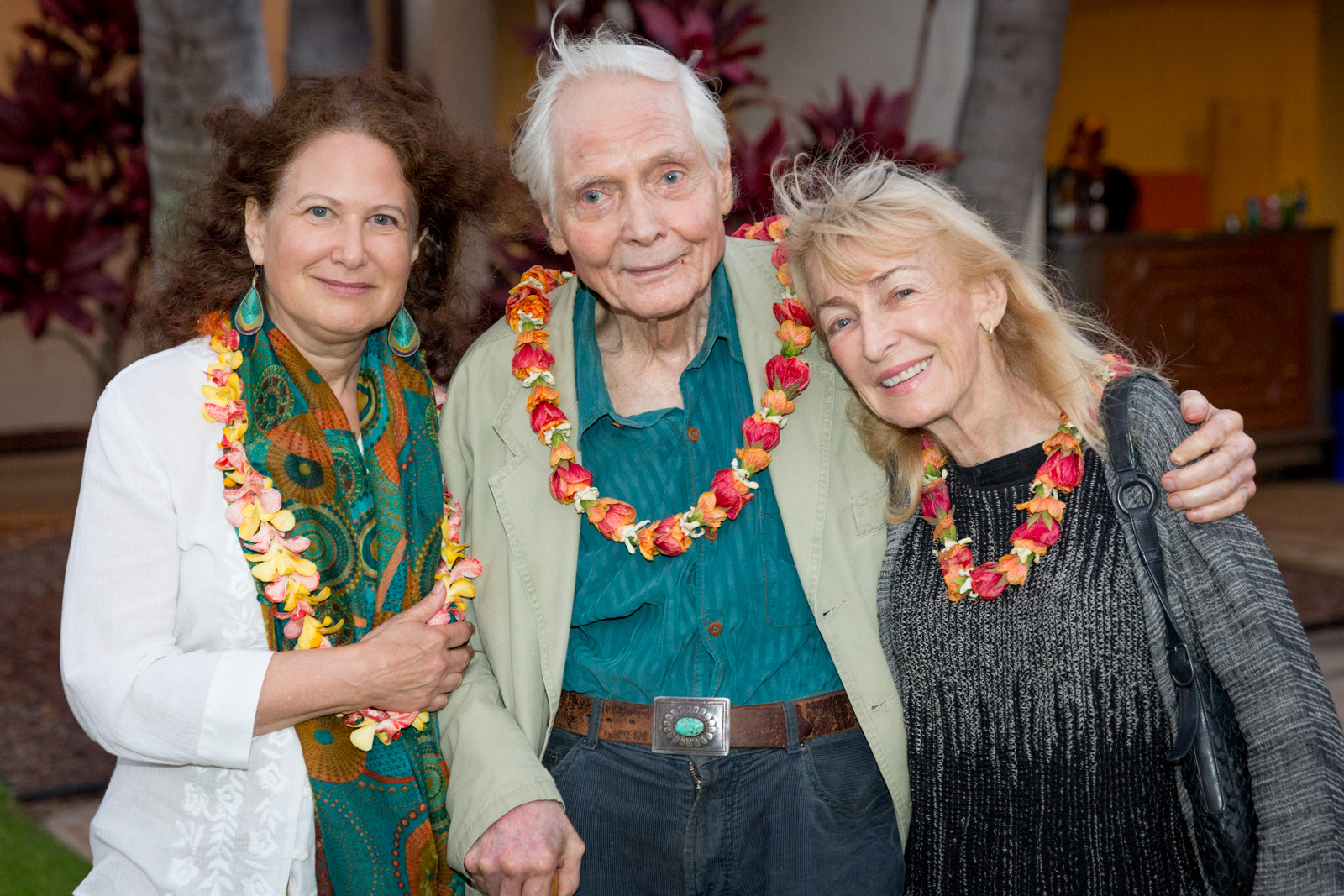 Jane Hirshfield, W.S. Merwin, and Paula Merwin
