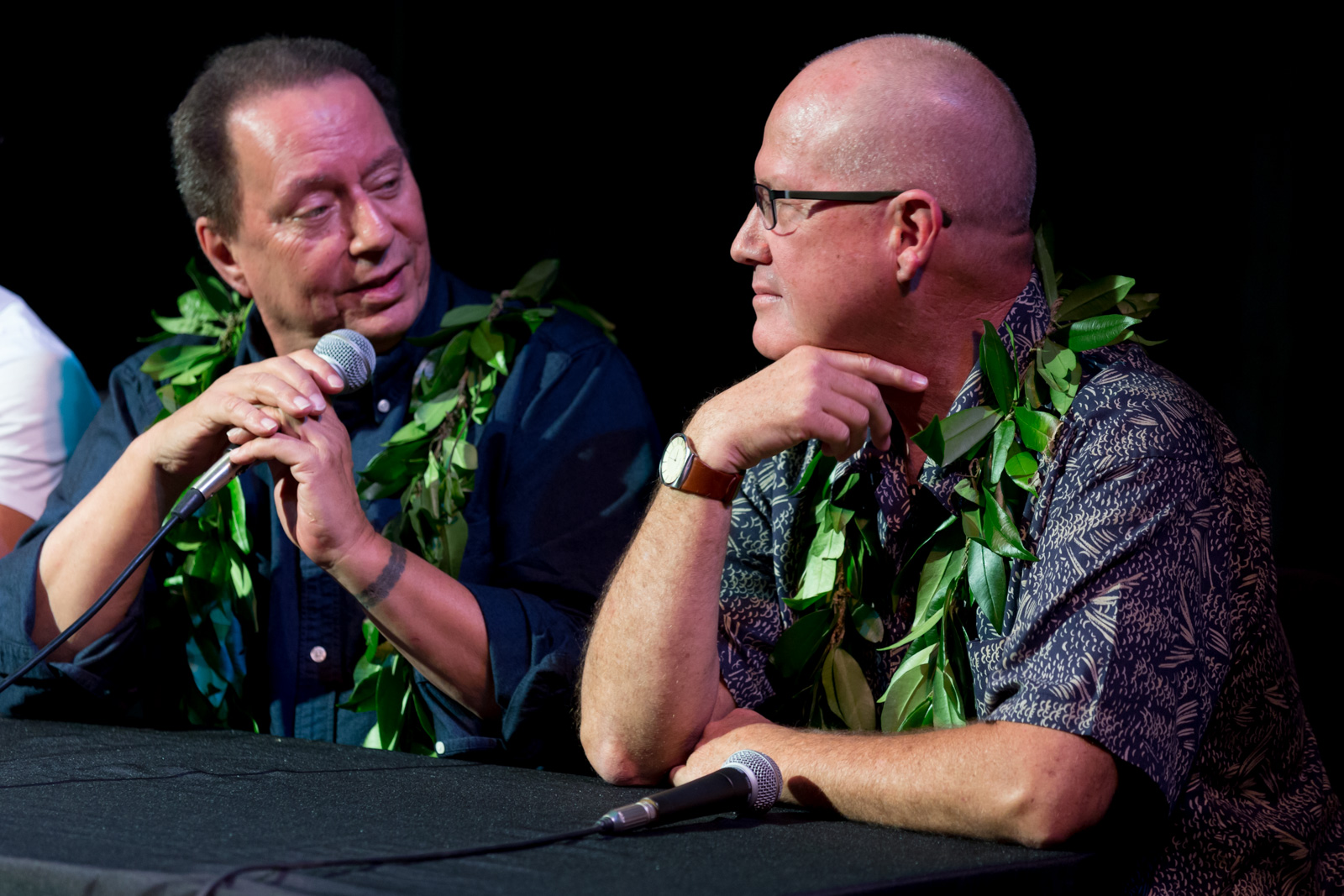 Dr. Puakea Nogelmeier and Professor Kī'ope Raymond discuss Hawaiian language