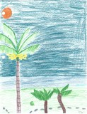 Artwork inspired by the Merwin Palm Forest - Haleakala Waldorf School