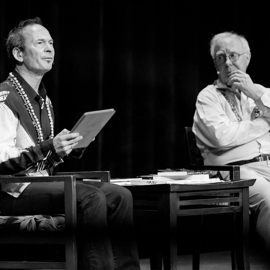 Forrest Gander & Robert Hass in The Green Room