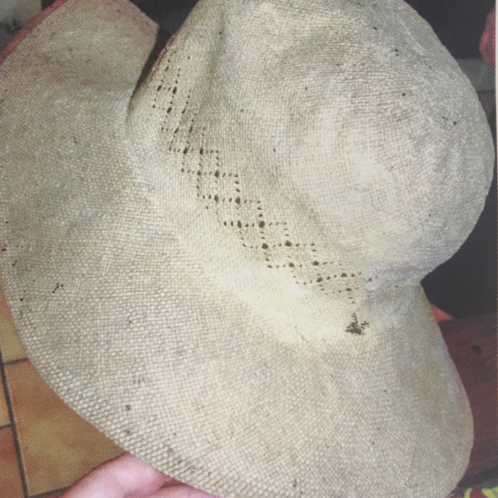Hat Made from Pritchardia tahuatana by J.F. Butaud