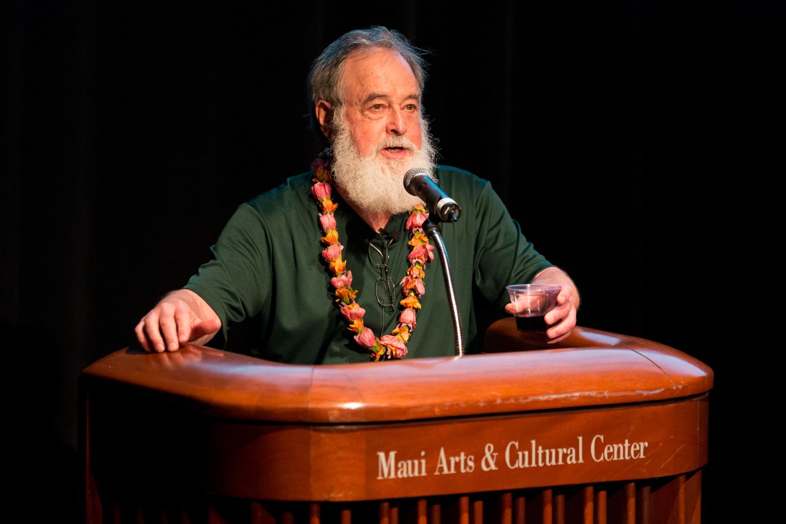 Bill Porter (aka Red Pine) speaking in The Green Room
