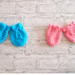 gants mitaines crochet bébé ensemble