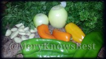 The fresh ingredients for my Green Sofrito