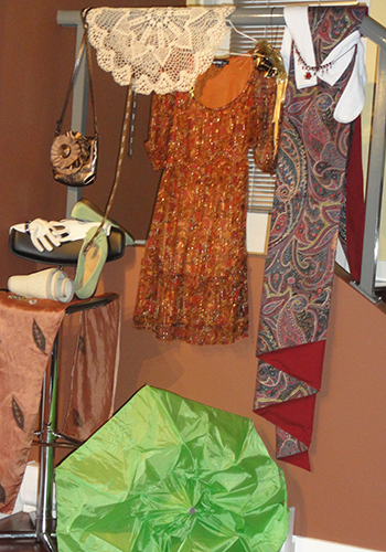 clothes laid out and cropped