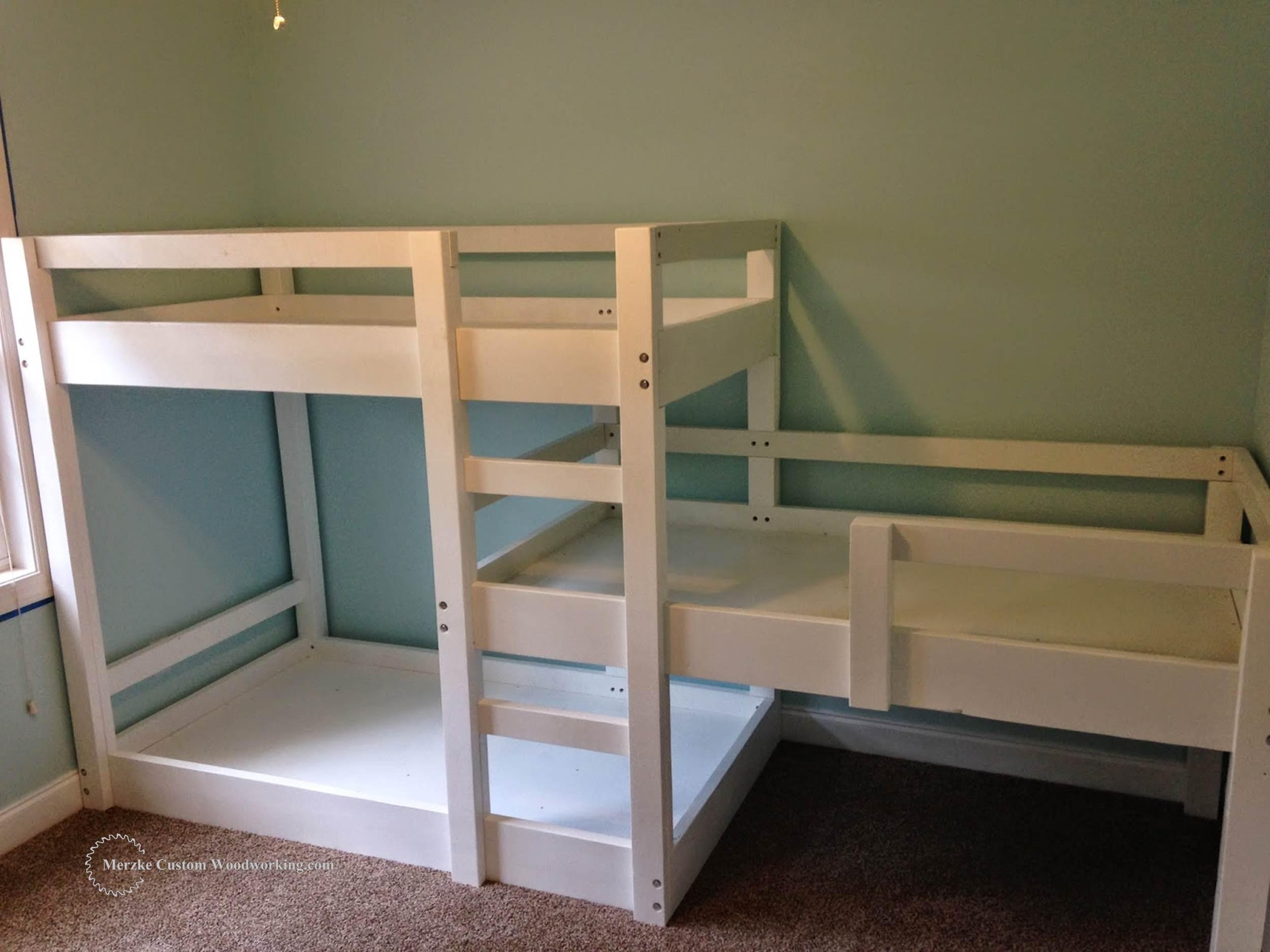 Triple Bunk Bed Merzke Custom Woodworking