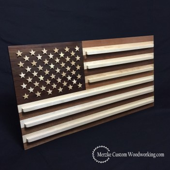 American Flag Coin Rack on Black