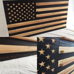 Customized American Flag Coin Rack