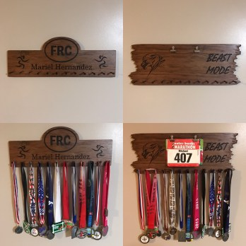 Custom made medal hangers