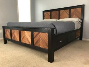Custom made Shou Sugi Ban Bed