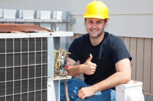 Air conditioning and heating repair in Keller technician