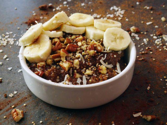 recette porridge healthy quinoa-chocolat