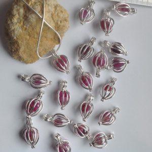 pendentif rubis brut afghan