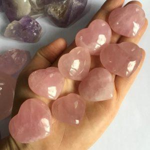 Petit coeur quartz rose