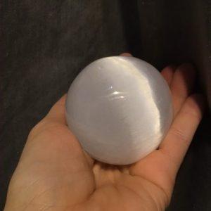sphère de sélénite 6 cm