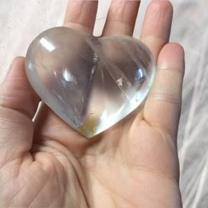 Coeur en cristal de roche extra