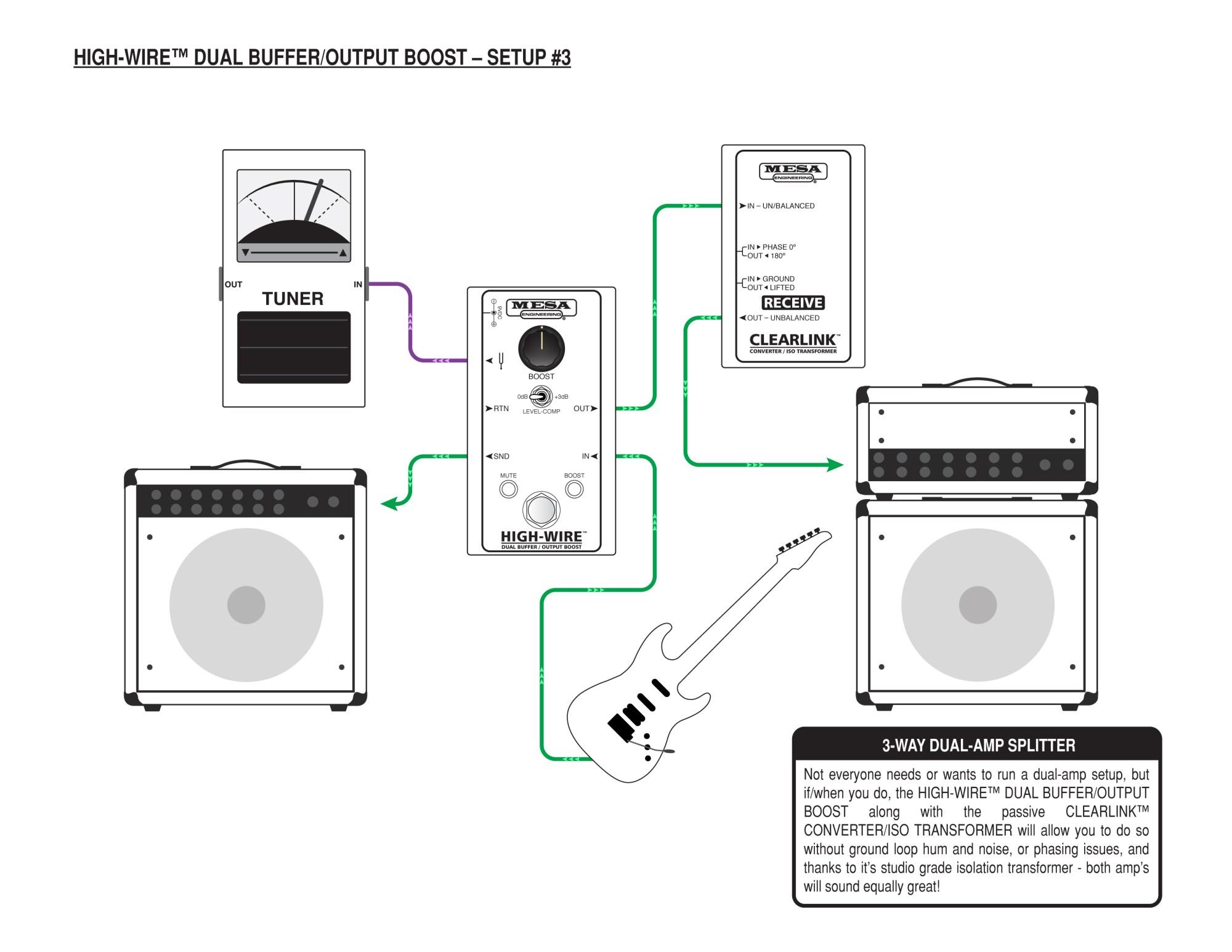 hight resolution of mesa boogie high wire dual buffer and line driver mesa boogie taotao ata 125 wiring diagram line driver wiring diagram
