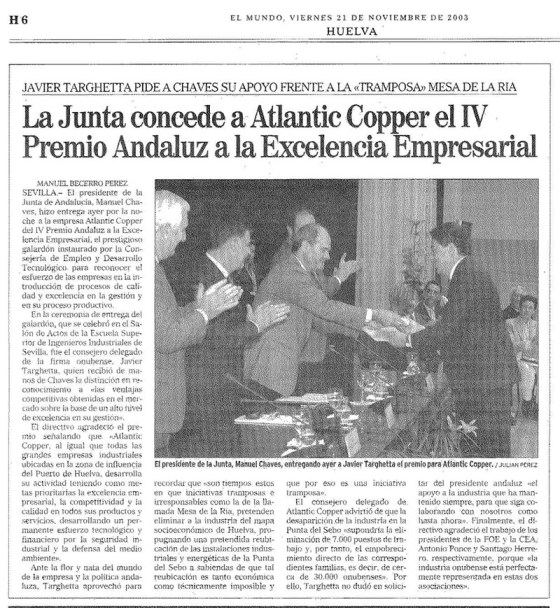 2003-11-21-JUNTA-PREMIO EXCENCIA Atlantic-copper