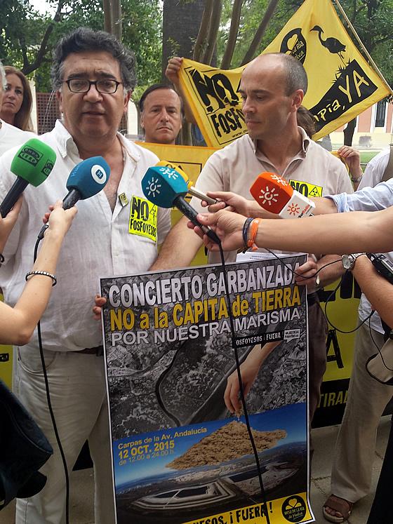 Bernardo Romero apoyando la convocatoria.