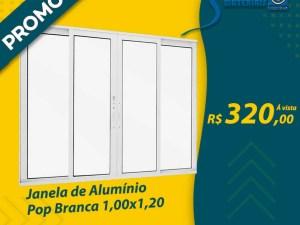 JANELA 4F ALUM BRANCO 1,00X1,20