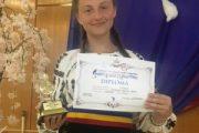 Mălina Boricean, un nou concurs, un nou premiu
