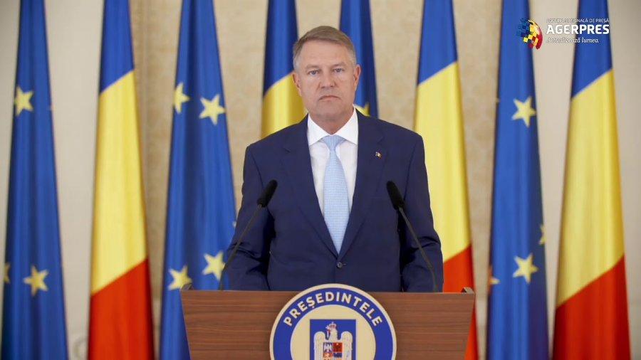 Preşedintele Klaus Iohannis: am emis astăzi decretul de prelungire cu 30 de zile a stării de urgență