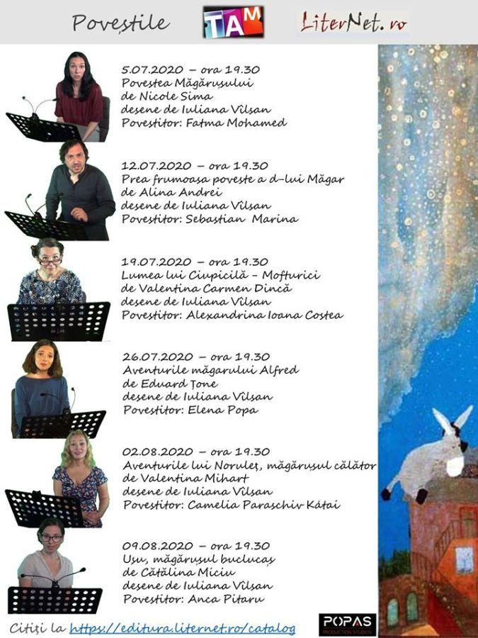 TAM și LiterNet.ro au pregătit șase duminici de vară cu povești
