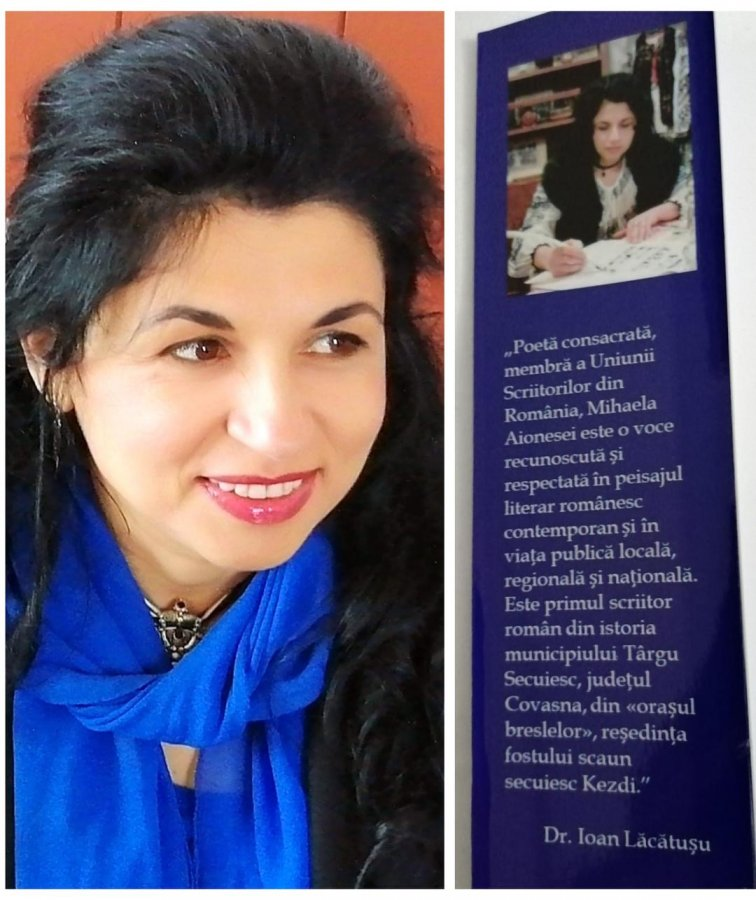 Poeta Mihaela Aionesei cochetează în mod fericit cu ...gazetăria