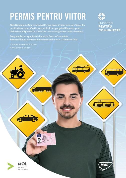 Tinerii defavorizaţi pot obţine gratuit permisul de conducere
