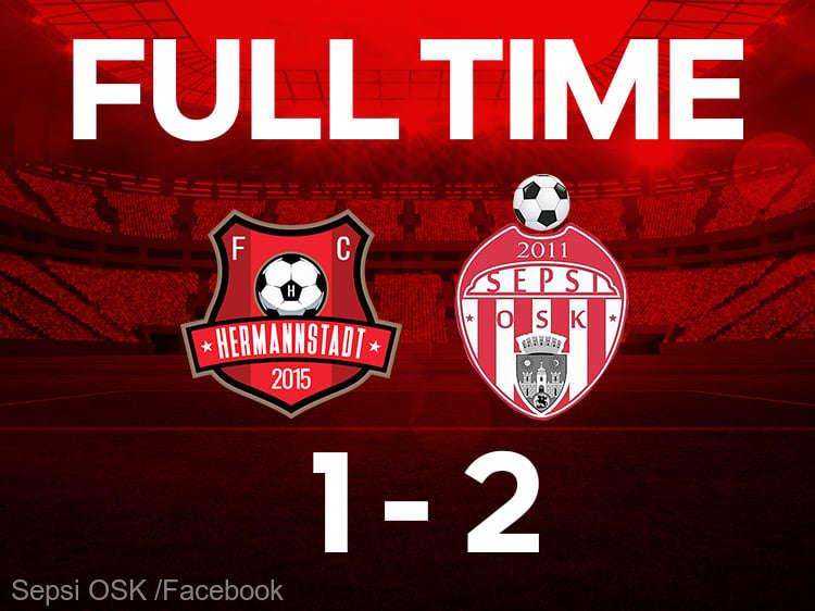 Fotbal - Liga I: FC Hermannstadt - Sepsi OSK Sfântu Gheorghe 1-2