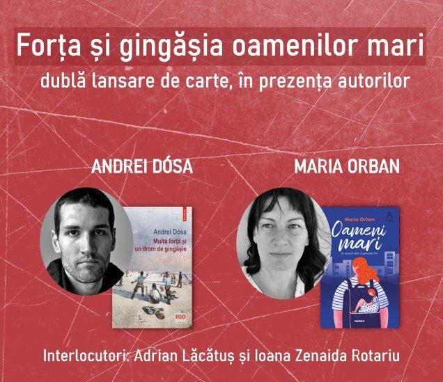 Dublă lansare de carte și întâlnire cu autorii - Andrei Dósa și Maria Orban