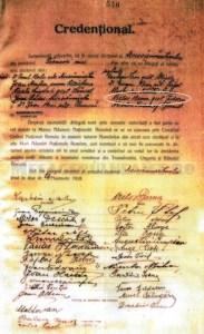 Imputernicirea pentru Marea Adunare Nationala Romana 1918