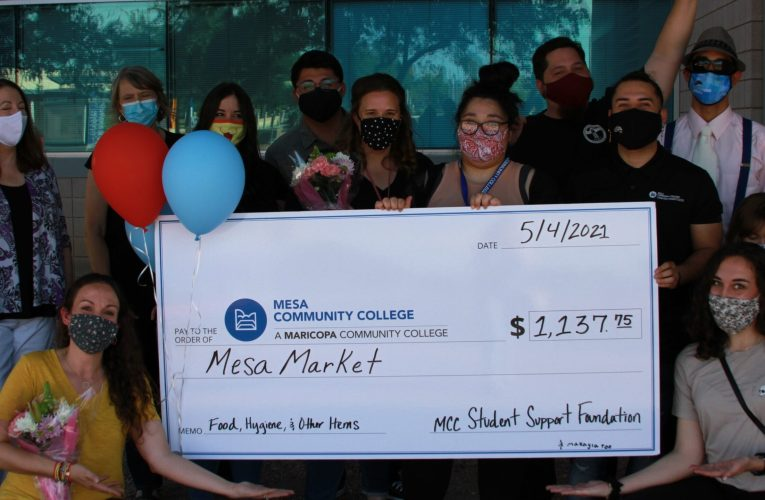 The Mesa Market receives a surprise $1,000 check to fund campus food pantry.