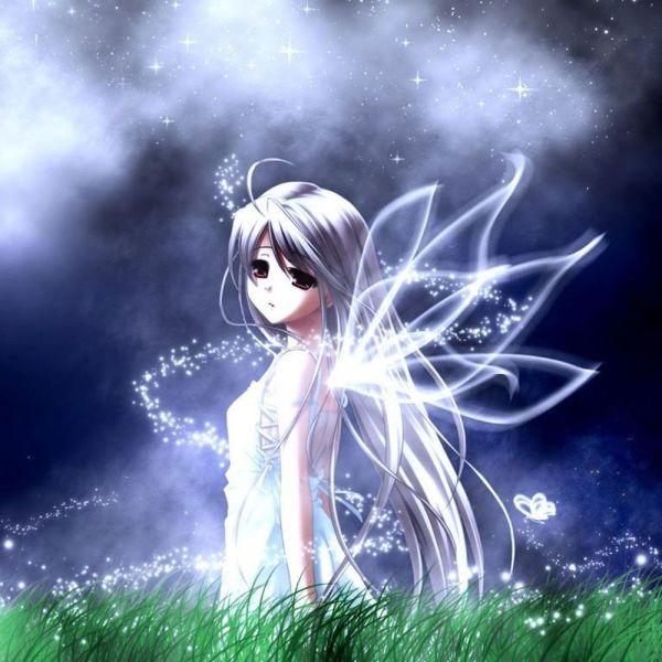 Sad Anime Fairy Girl