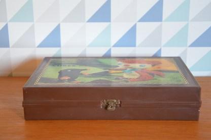 Superbe boite de cube vintage des Aventures de Calorgol