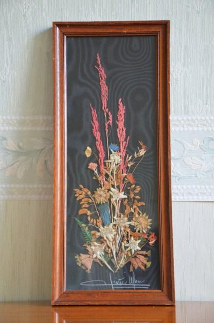 cadre de fleurs séchees Grand modèle avec Edelweiss
